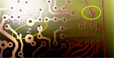 PCB holes offset from component pads